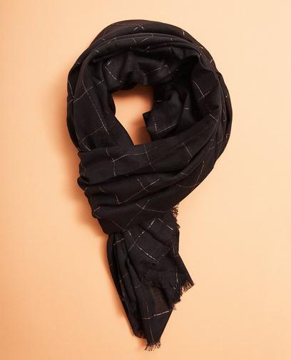 Zwarte geruite sjaal
